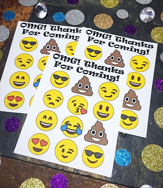 Emoji Party Favors Birthday Stickers