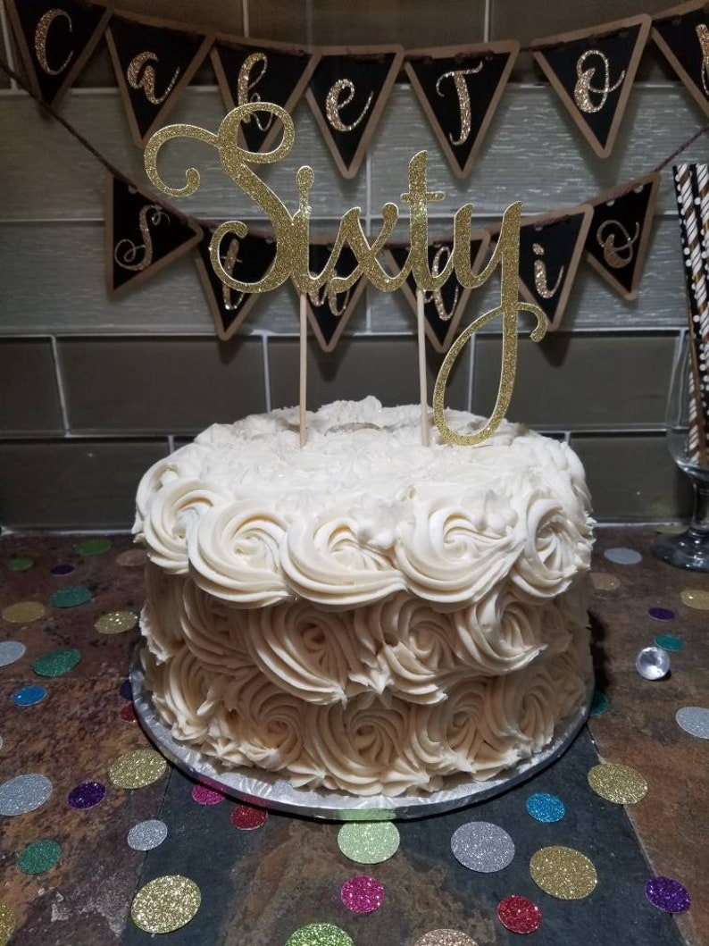 60th Birthday Cake Topper Sixty Age