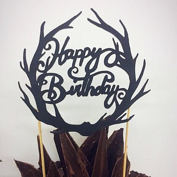 Jagd Kuchendeckel Kuchen Alles Gute Zum Geburtstag Geweih Etsy