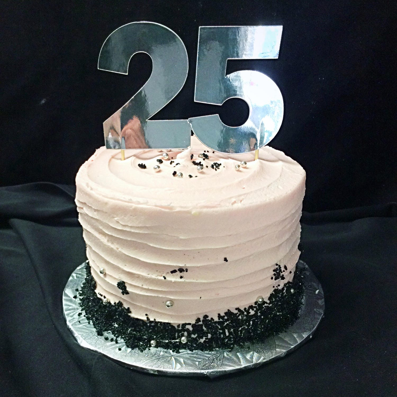 25th Birthday Cake Topper 25 Age Decorations