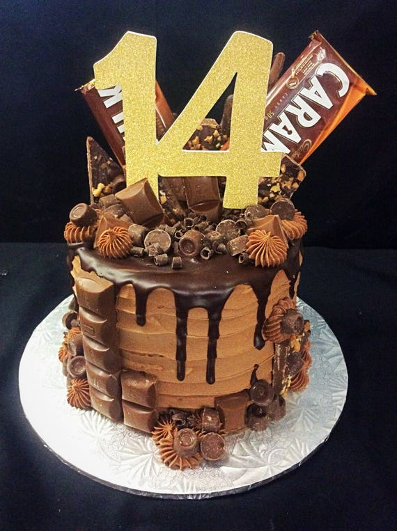 14th Birthday Cake Topper Number 14
