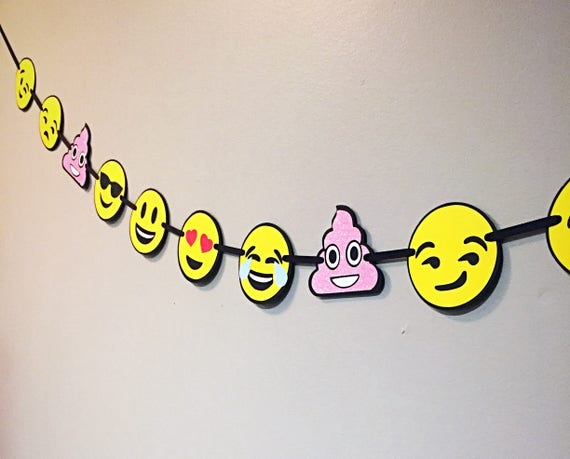 Emoji Birthday Banner Party