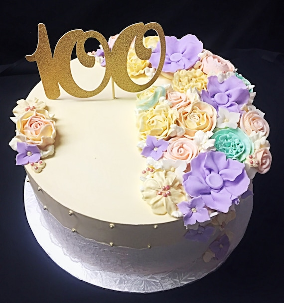 100th Birthday Cake Topper 100