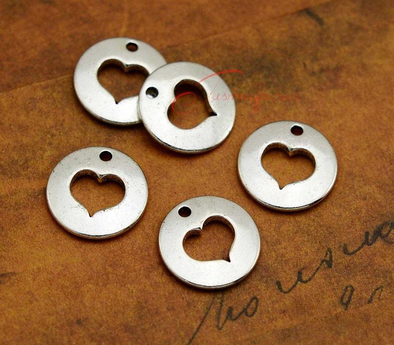 6 x Tibetan Silver Grand Daughter Love Heart Charm Pendant Jewellery Making