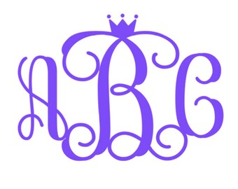 Vine Crown Font Monogram Decal SVG Cut Files Instant Download