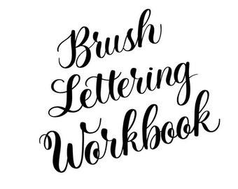 PDF Printable Brush Lettering Workbook (for big pens)