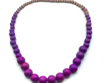 Purple Wood necklace