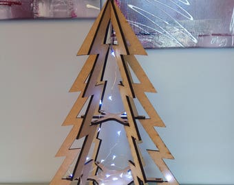 Modern painting wood design Christmas tree