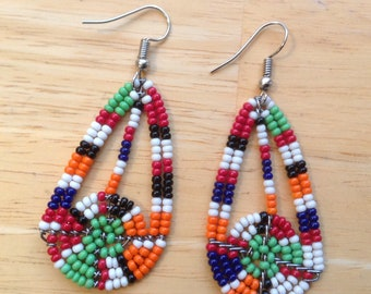 AfricanArena Handcrafted Beaded OOAK Dangle Fashion Earrings AA29