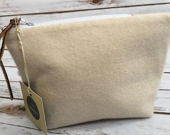Beige HANDMADE Cashmere Bag