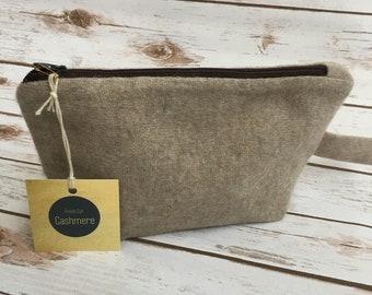 HANDMADE Light Beige Cashmere Bag