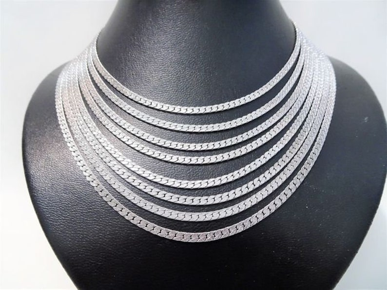 Multiple strands rows chains Vintage Gift woman Signed MONET 8-Row Chain Necklace 1980s Silver tone