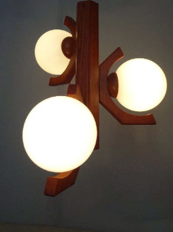 3 bulbs Design pendant lamp Bony design years 80