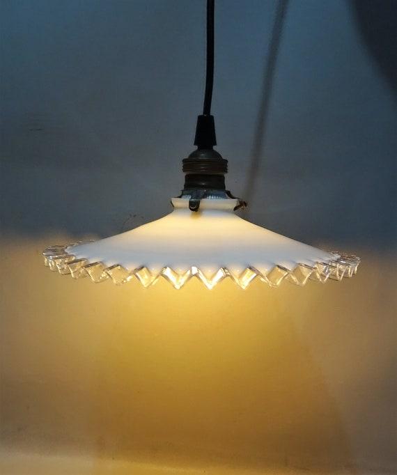 Art Deco Stil Deckenleuchte 20er Jahre Franzosisch 30er Jahre Vintage Design Weiss Opal Glaslampenschirm Durchmesser 9 85 Zoll 25 Cm Geschenk Mann