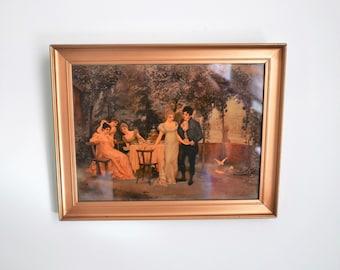 Antiek Schilderij Victorian Crystoleum Year 1880 to 1910 - glass painting - Gift men woman photographer wall hanging office shop livingroom