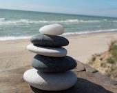 Set of 5 shaped balancing Stones-Beach Pebbles Stack -Balancing Stones - Sea Rock Cairn - Meditation Stones - Zen Stones 13A