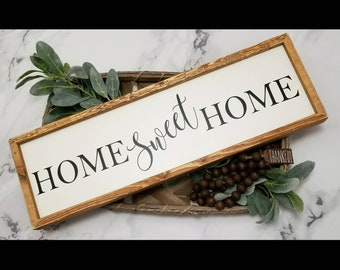 Home Sweet Home sign, home sweet home wood sign, wood home sweet home sign, wood home sign, farmhouse style wood sign,  Home sign