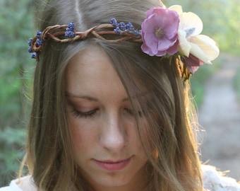 Bridal Crown, Floral Crown, Wedding Crown, Boho Crown, Bridesmaid Crown