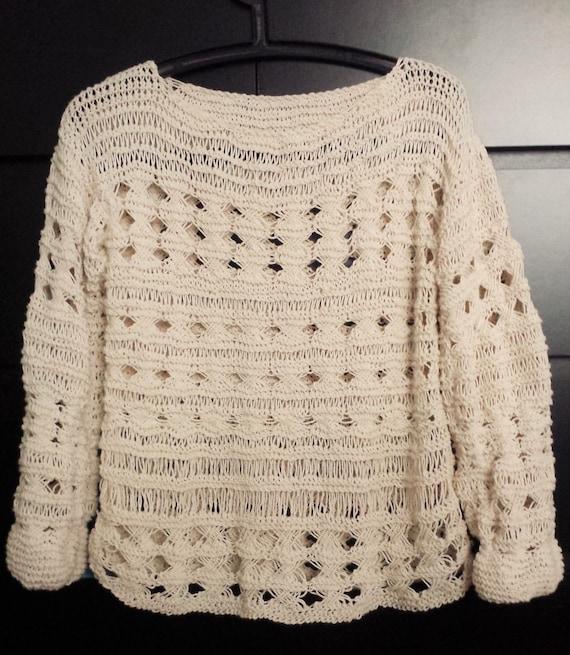 Patrón de suéter de punto a mano punto suéter suéter tejido | Etsy