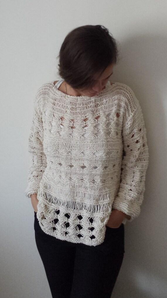 Hand Knit Sweater Pattern Knit Sweater Hand Knitted Sweater