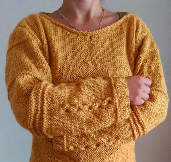 Knit Sweater Handmade Sweater Handknit Knitted Warm Womens Sweaters Knitted Handmade Knitwear