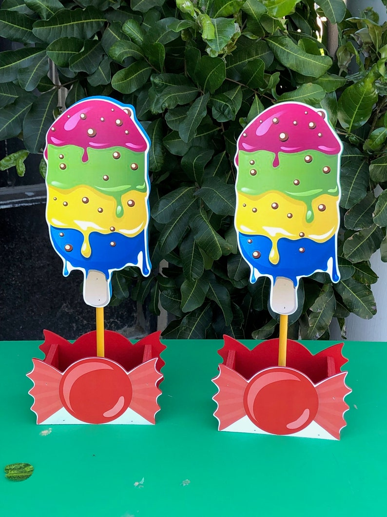 Superb Ice Cream Centerpieces Candy Centerpieces Candy Theme Centerpieces Birthday Candy Beutiful Home Inspiration Xortanetmahrainfo