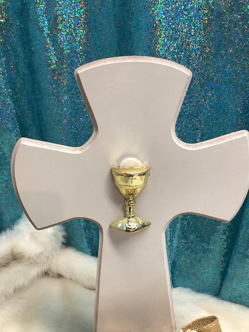 Cross communion center pieces