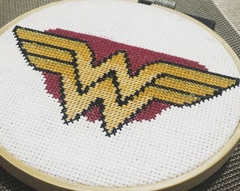 Wonder Woman Cross Stitch