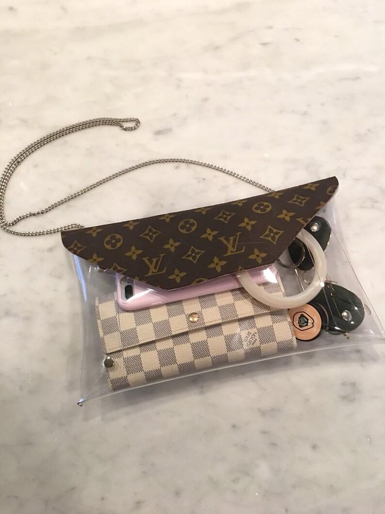 cb80e167ab09 Recycled Louis Vuitton Clear Stadium Bag Clutch crossbody handbag Perfect  Rain b... Recycled Louis Vuitton Clear Stadium Bag Clutch crossbody handbag  ...