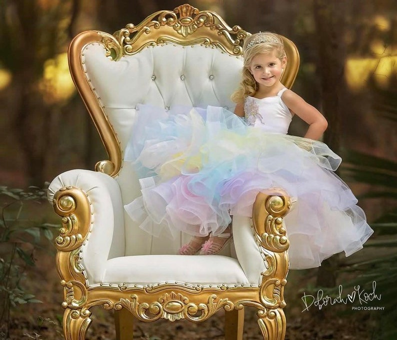 ef08d4afa9 Rainbow princess dress pastel rainbow dress Rainbow tutu | Etsy