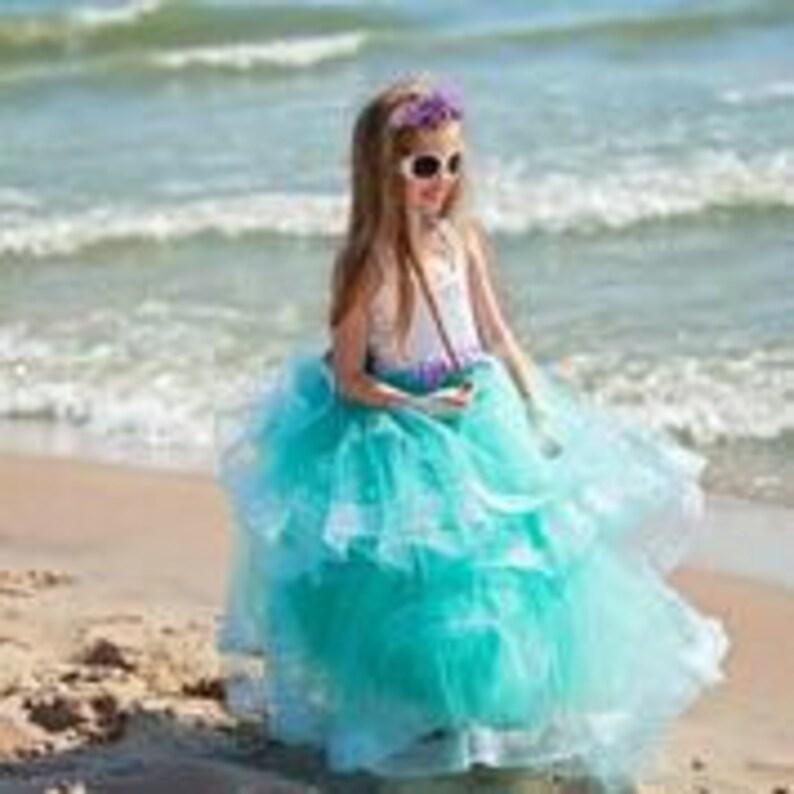 Mermaid Girl Dress Mermaid Birthday Girl Seashell Dress Mermaid Ariel Princess Dress Mermaid Birthday Party Costume Mermaid Princess