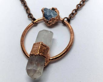 Crystal Necklace, Blue Calcite Necklace, Blue Calcite Jewelry, Crystal Jewelry, Hippie Necklace, Hippie Jewelry, Boho Necklace, Boho Jewelry
