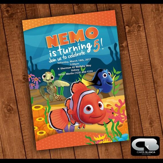 Finding Nemo Invitation Finding Nemo Invite Finding Nemo Etsy