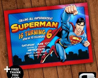 Superman invitation etsy stopboris Choice Image