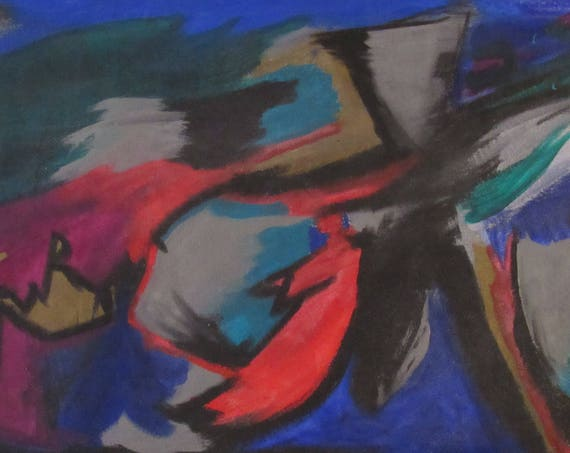"Abstract Painting ""Running Man"""