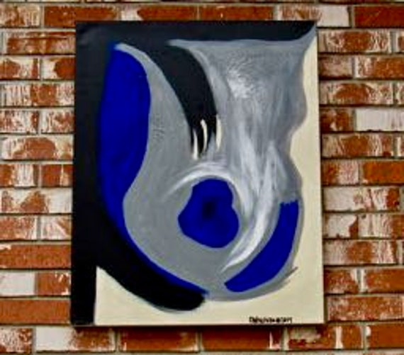 "Original Abstract Painting ""Blu"""