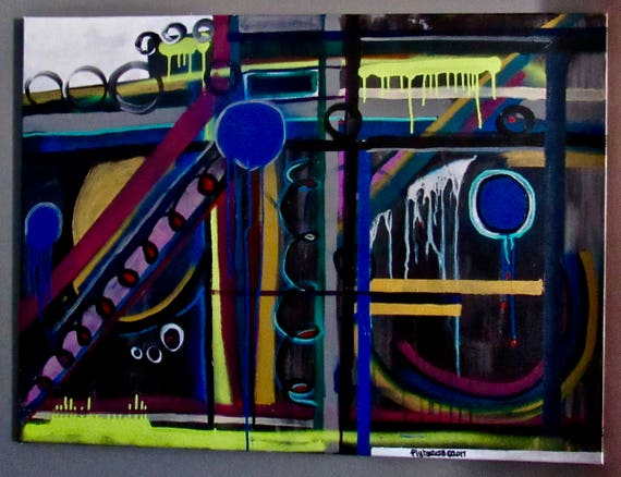 "Abstract Painting ""Graffiti Burst"""