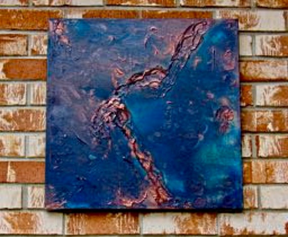 "Abstract Painting ""View from Above~From Afar"""