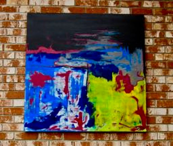 "Abstract Painting ""Going With the Flow"""