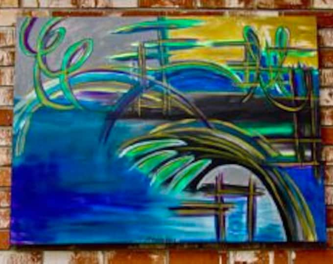 "Abstract Painting ""Boardwalk"""