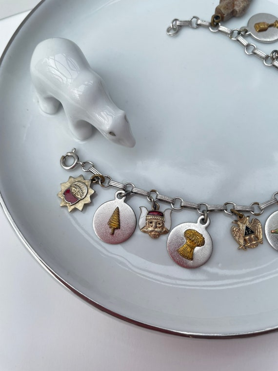 Vintage Masonic charm bracelet   charm bracelet  … - image 3