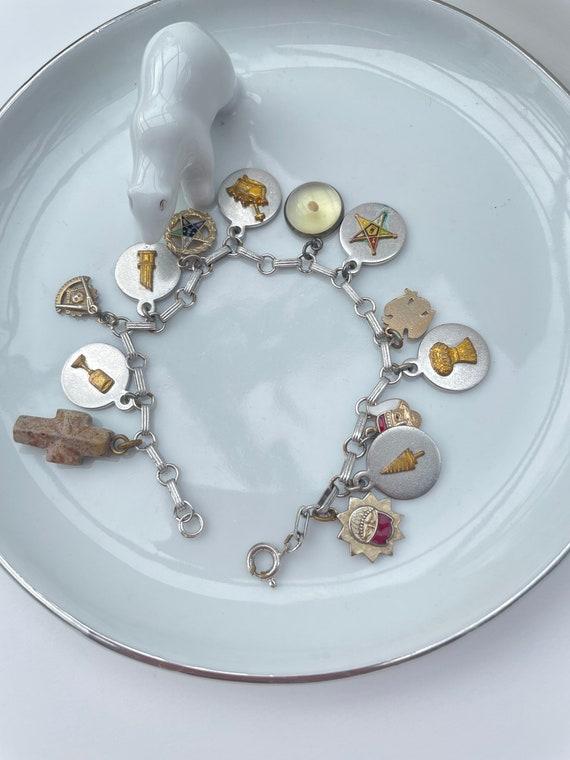 Vintage Masonic charm bracelet   charm bracelet  … - image 7