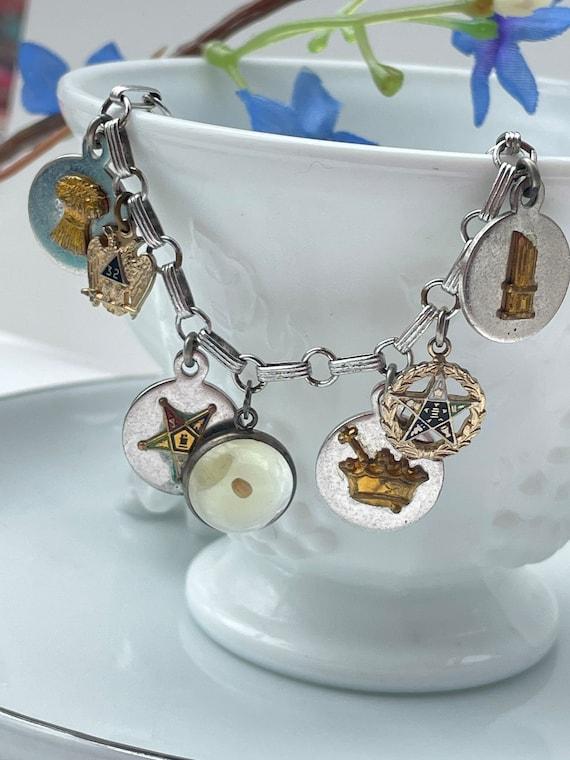 Vintage Masonic charm bracelet   charm bracelet  … - image 6