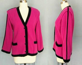 Hot Pink Cardigan Etsy