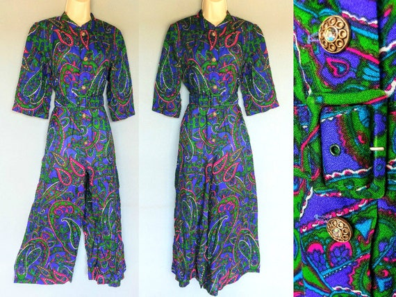 rubber soul | 1960s psychedelic paisley print wid… - image 1