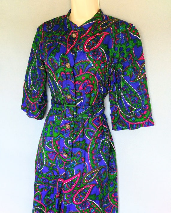 rubber soul | 1960s psychedelic paisley print wid… - image 6