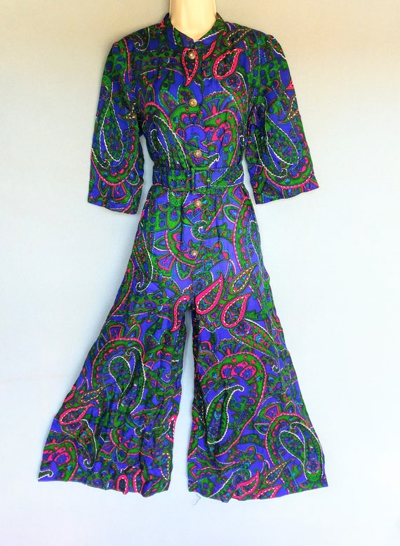 rubber soul | 1960s psychedelic paisley print wid… - image 7