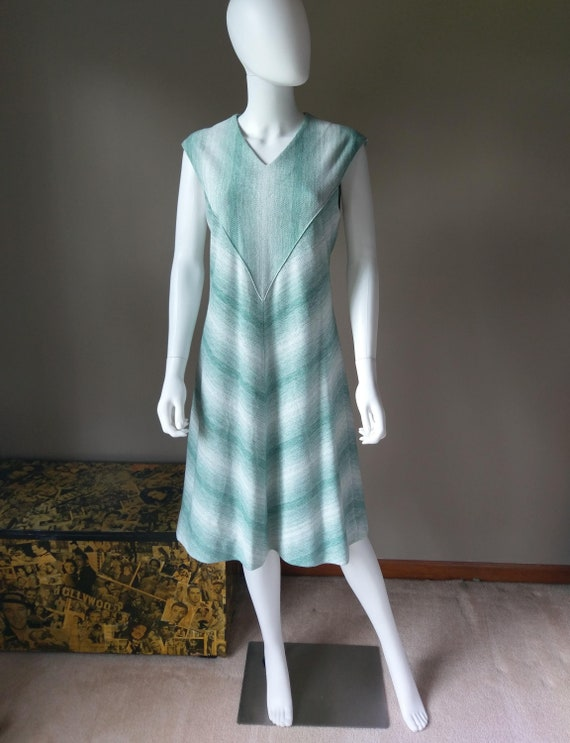 sage   1970s green two piece sweater dress   knit… - image 10