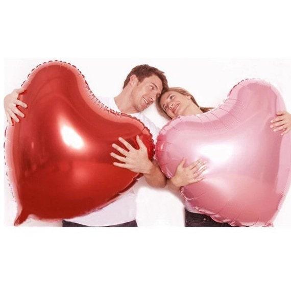 36 Pink Heart Balloon