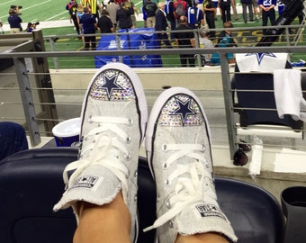 Dallas Cowboys Swarovski Crystal Blinged Converse Shoes - FREE SHIPPING ac2f97e13
